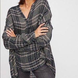 Free People Tops - Free People Fearless Love green sequin plaid top